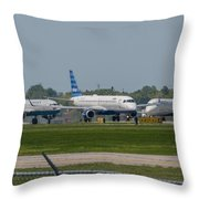 Vying For Position Throw Pillow