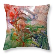 W 019 - Amoebae Throw Pillow