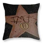 W C Fields Star Throw Pillow