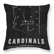 Arizona Cardinals Art - Nfl Football Wall Print Throw Pillow by Damon Gray