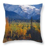 102238-v-w End Of Seven Sisters Mountain  Throw Pillow