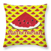 W Is For Watermelon Throw Pillow
