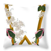 W Is For Wonderful Throw Pillow