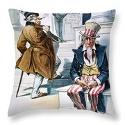 W. Mckinley Cartoon, 1896 Throw Pillow