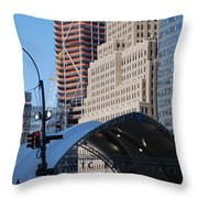 W T C Path Station Throw Pillow