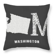 Wa Home Throw Pillow by Nancy Ingersoll