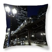 Wabash El Throw Pillow