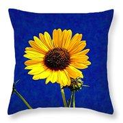 Wabi-sabi Sunflower Throw Pillow