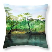 Waccamaw River - Impressionist Throw Pillow