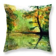 Waccamaw River Sc Throw Pillow