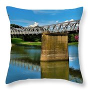 Waco Suspension Bridge 2 Throw Pillow