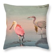Wade Fishing The Laguna Throw Pillow