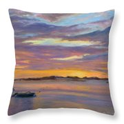 Wades Beach Sunset Throw Pillow