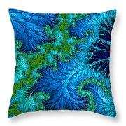 Fractal Art - Wading In The Deep Throw Pillow
