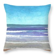 Wading Surf Throw Pillow