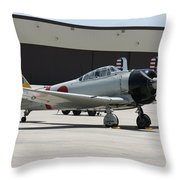 Wafb 09 T-6 Tora 101 Zero 8 Throw Pillow