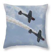 Wafb 09 Yak 52 Aerostar 7 Throw Pillow