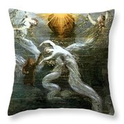 Wagner: Das Rheingold Throw Pillow by Granger