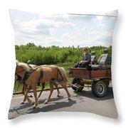 Wagon 10 Throw Pillow