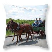Wagon 12 Throw Pillow