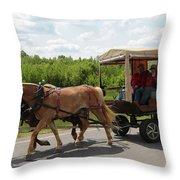 Wagon 7 Throw Pillow
