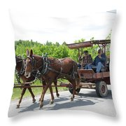 Wagon 8 Throw Pillow
