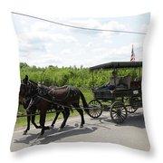 Wagon 9 Throw Pillow