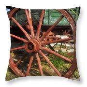 Wagon And Wheel Throw Pillow
