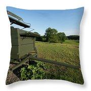Wagon At Wagon Hill Farm In Durham New Hampshire Throw Pillow