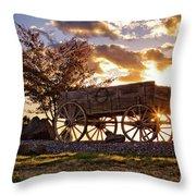 Wagon Hdr Throw Pillow