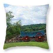 Wagon Hoa Throw Pillow