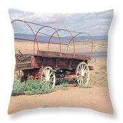 Wagon Of The West Throw Pillow