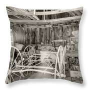 Wagon Repair Throw Pillow