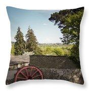 Wagon Wheel County Clare Ireland Throw Pillow