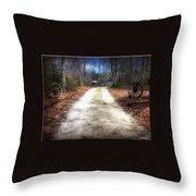 Wagon Wheel Lane Throw Pillow