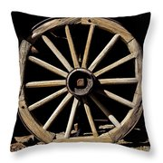 Wagon Wheel Texture Throw Pillow