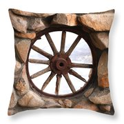 Wagon Wheel Window Throw Pillow