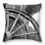 Wagon Wheels Throw Pillow