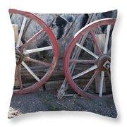 Wagon Wheels. Throw Pillow