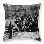 Wagons Westward 2 Throw Pillow