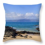 Wai Beach Throw Pillow