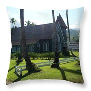Wai Oli Hui Ia Church Throw Pillow