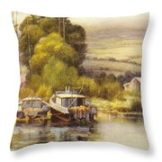Waiakea Vintage Art Throw Pillow
