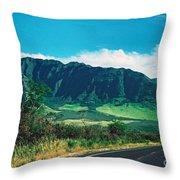 Waianae Mountains Throw Pillow