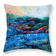 Waianae Mtn Range Oahu Throw Pillow
