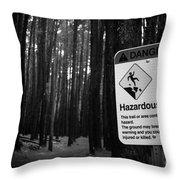 Waihou Spring Trail Waihou Spring Forest Reserve Maui Hawaii Throw Pillow