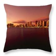 Waikiki At Twilight Throw Pillow