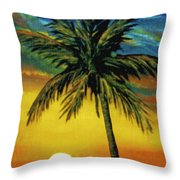 Waikiki Sunset #38 Throw Pillow