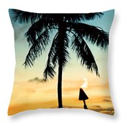 Waikiki Sunset Throw Pillow