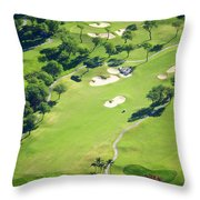 Wailea Gold And Emerald Courses Throw Pillow by Ron Dahlquist - Printscapes